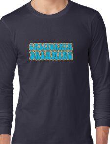 California Dreaming Song Lyrics Hippie 60s Peace Long Sleeve T-Shirt