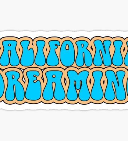 California Dreaming Song Lyrics Hippie 60s Peace Sticker