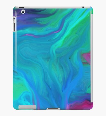 AGATE BLUE ABSTRACT OIL PAINTING iPad Case/Skin