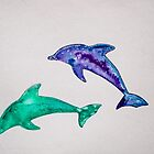 Dolphins  by Kissart