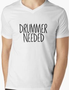 Drummer Needed Cool Music Quote Random Mens V-Neck T-Shirt