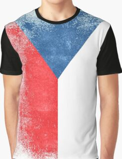 Czech Republic Flag Proud Czech Vintage Distressed Graphic T-Shirt