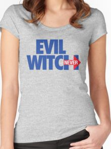 EVIL WITCH - NEVER HILLARY Women's Fitted Scoop T-Shirt