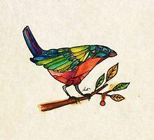 A Little Bird Told Me - Watercolour by Daniel Watts