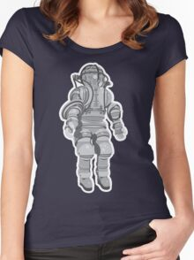 Atmospheric Diving Suite 1882 - Gray On White Women's Fitted Scoop T-Shirt
