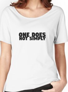 One Does Not Simply Boromir Quote Meme Funny Random Women's Relaxed Fit T-Shirt
