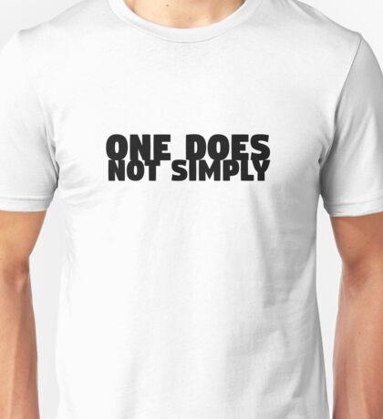 One Does Not Simply Boromir Quote Meme Funny Random Unisex T-Shirt