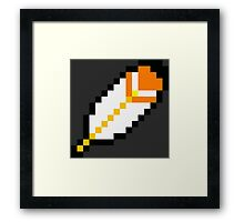 Super Mario Feather Framed Print