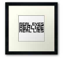 Wordplay Funny Cool Clever Life Quote  Framed Print