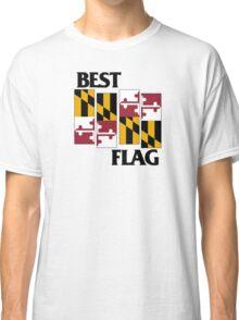 Best Flag, Black on White Classic T-Shirt