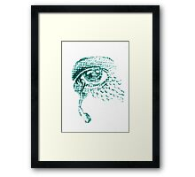 Crying blue  Framed Print