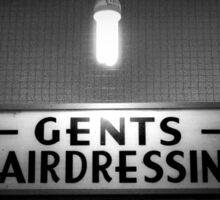 Gents Hairdressing - Soho, London Sticker