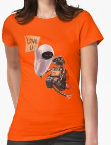 WALL-E & EVE  Womens Fitted T-Shirt