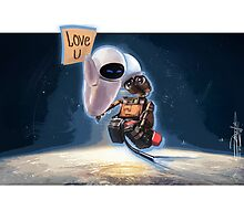 WALL-E & EVE  Photographic Print