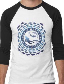 The Ocean Is Where I Belong Men's Baseball ¾ T-Shirt
