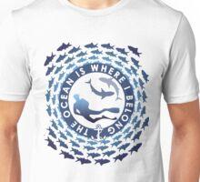 The Ocean Is Where I Belong Unisex T-Shirt