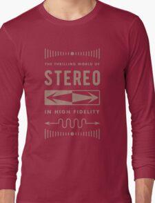 High Fidelity Stereo (gold) Long Sleeve T-Shirt