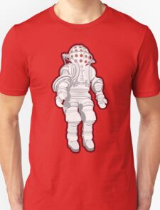 Atmospheric Diving Suite 1882 - White On Red Unisex T-Shirt
