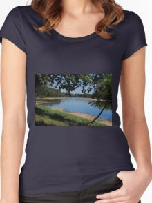 River Road View Women's Fitted Scoop T-Shirt