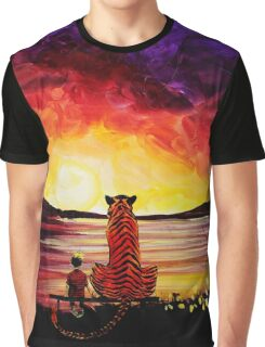 Calvin and Hobbes Art Painting Graphic T-Shirt