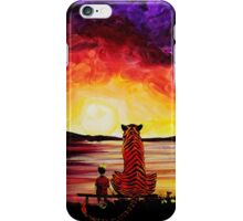 Calvin and Hobbes Art Painting iPhone Case/Skin