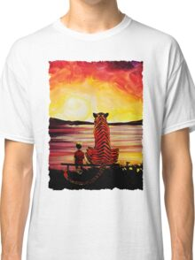 Calvin and Hobbes Art Painting Classic T-Shirt