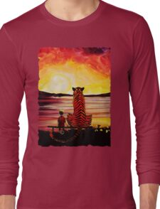 Calvin and Hobbes Art Painting Long Sleeve T-Shirt