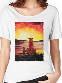 Calvin and Hobbes Art Painting Women's Relaxed Fit T-Shirt