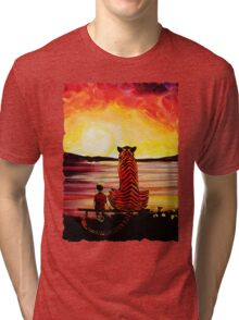 Calvin and Hobbes Art Painting Tri-blend T-Shirt