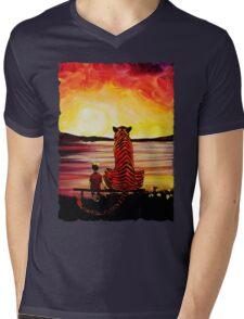Calvin and Hobbes Art Painting Mens V-Neck T-Shirt