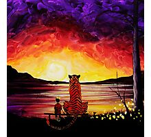Calvin and Hobbes Art Painting Photographic Print