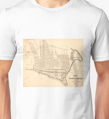 Vintage Map of Georgetown (Washington D.C.) 1876 Unisex T-Shirt