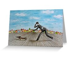 Walk with dog Greeting Card
