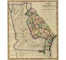 Vintage Map of Georgia (1817) Photographic Print