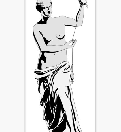 Venus with Drop Spindle Sticker