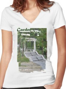 Garden joy Women's Fitted V-Neck T-Shirt