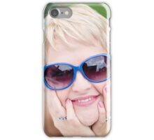 Stunningly beautiful young blond woman iPhone Case/Skin