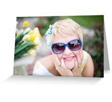Stunningly beautiful young blond woman Greeting Card