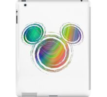 colorful abstract mickey's head design iPad Case/Skin