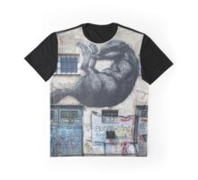 Graffiti Raccoon Graphic T-Shirt