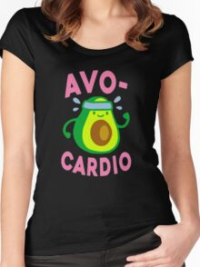AVOCARDIO Women's Fitted Scoop T-Shirt