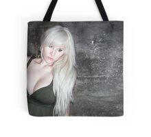 fashion blonde girl with big breasts Tote Bag
