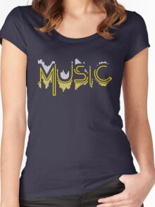 Music Soundwave 3 Women's Fitted Scoop T-Shirt