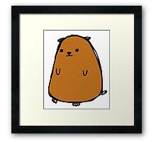 Poorly drawn hamster Framed Print