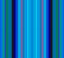 Stripes on Periwinkle Sticker