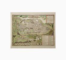 Vintage Map of Jerusalem Israel (16th Century) Unisex T-Shirt
