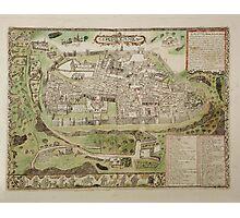 Vintage Map of Jerusalem Israel (16th Century) Photographic Print