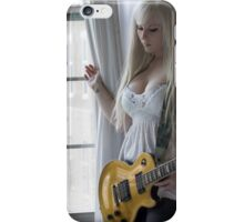 Woman By Window in See-Through Dress iPhone Case/Skin