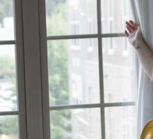 Woman By Window in See-Through Dress Sticker