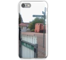 signs and trains iPhone Case/Skin